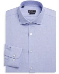 Saks Fifth Avenue - Modern Zigzag Cotton Dress Shirt - Lyst