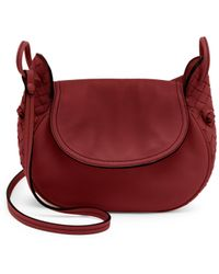 33fd30cc0b Bottega Veneta - Women s Small Leather Saddle Bag - Magenta - Lyst