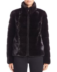 Michael Kors - Horizontal Mink Fur Jacket - Lyst