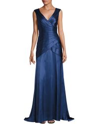 Kay Unger - Tiered Wrap Gown - Lyst