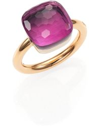 Pomellato - Nudo Amethyst & 18k Rose Gold Ring - Lyst