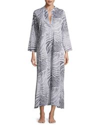 Natori - Printed Cotton Gown - Lyst