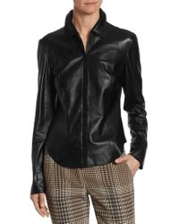 Akris Punto - Perforated Leather Jacket - Lyst