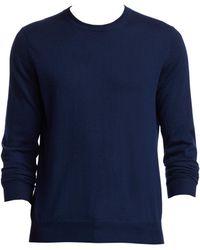 4136e254e0 Saks Fifth Avenue - Men s Collection Crewneck Lightweight Cashmere Jumper -  Royal Blue - Size Large