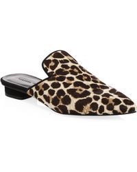 Rebecca Minkoff - Chamille Too Leopard Calf Hair Mules - Lyst