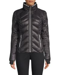 BLANC NOIR - Women's Quilted Puffer Jacket - Black - Size Large - Lyst