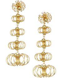 Kenneth Jay Lane | Flower Open Wire Post Earrings | Lyst