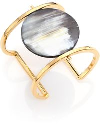 Nest - Horn Disc Statement Cuff Bracelet - Lyst