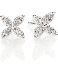 Kwiat - Sunburst Diamond & 18k White Gold Small Flower Stud Earrings - Lyst