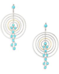 Coomi - Spring Turquoise, Diamond & Sterling Silver Drop Earrings - Lyst