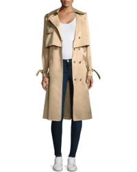 MILLY | Water Repellant Duchesse Trench Coat | Lyst
