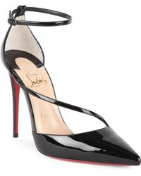 Christian Louboutin - Fliketta 85 Patent Leather D'orsay Sandals - Lyst