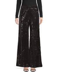 MILLY - Sia Sequin Trousers - Lyst