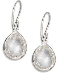 Ippolita - Clear Quartz Sterling Silver Teardrop Earrings - Lyst