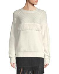 FRAME - Fringe Knit Sweater - Lyst