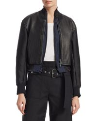 3.1 Phillip Lim - Leather Zip-front Jacket - Lyst