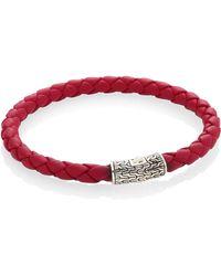 John Hardy - Classic Chain Leather & Sterling Silver Bracelet - Lyst