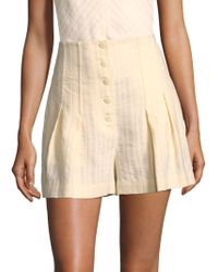 Rebecca Taylor | Textured Striped Shorts | Lyst