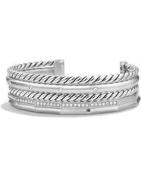 David Yurman - Stax Narrow Bracelet With Diamonds - Lyst