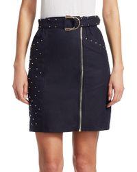 Maje - Jinta Zip-front Skirt - Lyst