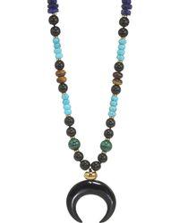 Nest - Malachite, Turquoise, Lapis & Horn Long Pendant Necklace - Lyst
