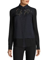 Yigal Azrouël - Silk Embroidered Blouse - Lyst