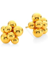 Marina B - Women's Mini Atomo 18k Yellow Gold Earrings - Gold - Lyst
