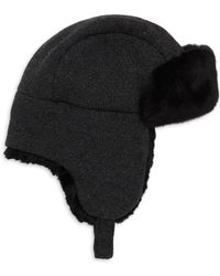 Inverni - Matilde Rabbit Fur-lined Trapper Hat - Lyst