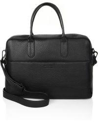 Uri Minkoff - Fulton Leather Briefcase - Lyst