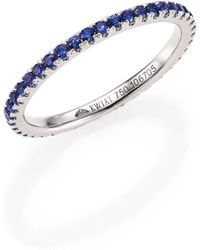 Kwiat - Sapphire & 18k White Gold Eternity Stacking Ring - Lyst