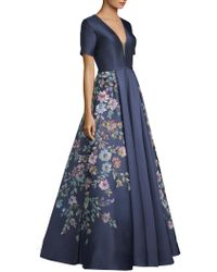 Basix Black Label - Hand Painted Floral Gown - Lyst