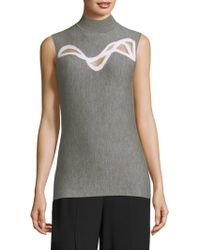 Elie Tahari   Merino Wool Sleeveless Sweater   Lyst