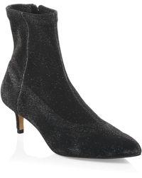 Rebecca Minkoff - Sayres Glitter Sock Boots - Lyst