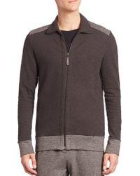 Hanro - Davide Herringbone Zip Front Jacket - Lyst