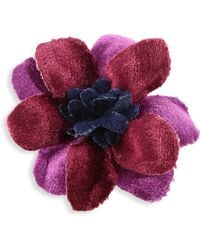 Hook + Albert - Two-tone Velvet Lapel Flower - Lyst