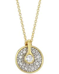 Plevé | Opus Ice Circle Diamond & 18k Gold Pendant Necklace | Lyst