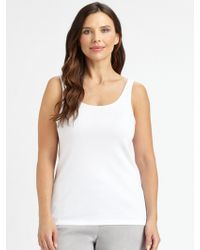 Eileen Fisher - System Organic Cotton Tank Top - Lyst