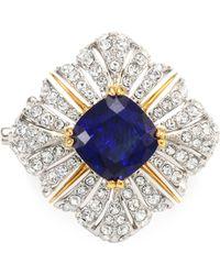 Adriana Orsini - Heraldic Crystal Brooch - Lyst