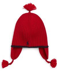 Ralph Lauren - Kid's Tassel Ribbed Wool Hat - Lyst
