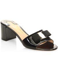 Ferragamo - Eolie Leather Slides - Lyst