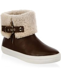 Burberry - Skillman Shearling-lined Leather Booties - Lyst
