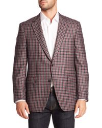 Saks Fifth Avenue - Samuelsohn Classic-fit Plaid Wool & Cashmere Sportcoat - Lyst