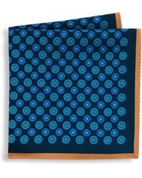 Ike Behar - Printed Silk Pocket Square - Lyst