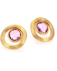 Marco Bicego | Jaipur Color Amethyst & 18k Yellow Gold Stud Earrings | Lyst