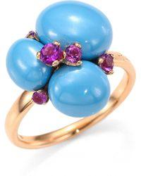 Pomellato - Amethyst, Ceramic & 18k Rose Gold Ring - Lyst