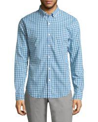 Bonobos - Summerweight Chequered Cotton Button-down Shirt - Lyst