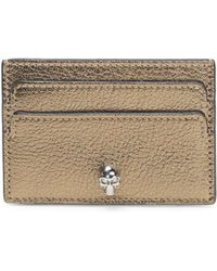 Alexander McQueen - Metallic Leather Card Holder - Lyst