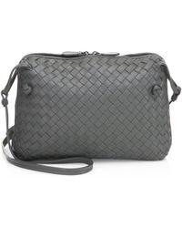 835760053150 Bottega Veneta - Small Pillow Intrecciato Leather Crossbody Bag - Lyst