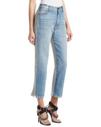 T By Alexander Wang - Terry Denim Trousers - Lyst