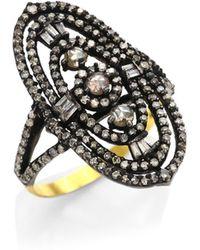 Bavna - Diamond Cocktail Ring - Lyst